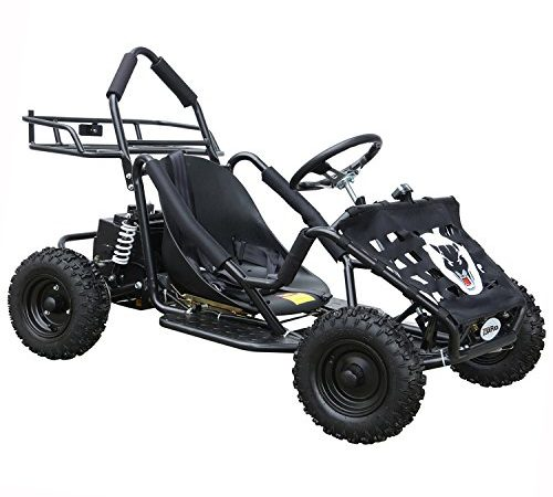 Jcmoto Electric Go Karts For Kids 4 Four Wheelers Off Road Tire 48v 1800w Black Upgraded Versions Kart