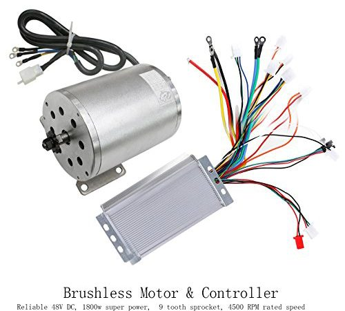 zxtdr 48v 1800w brushless electric motor and controller. Black Bedroom Furniture Sets. Home Design Ideas